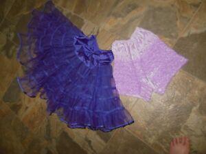"""Square Dance Petticoat Purple Double Layer Size Medium Nylon 22"""" L + Pettipants"""