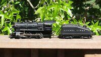 40s Lionel PostWar 1656 Locomotive 0-4-0 & 6403B Bell Ring Sloped Tender Runs VG