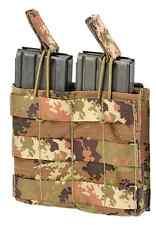 PORTA CARICATORE SOFTAIR DOPPIO MOLLE M4 AK ESTRAZIONE RAPIDA V.I. DEFCON 5