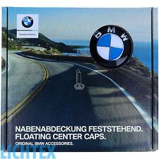 ORIGINAL BMW Nabenabdeckung feststehend Satz 4 stück NEU OVP 36 12 2 455 268