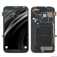LCD Display Touch Screen Glass Digitizer & Frame For Samsung Galaxy Note 2 N7100
