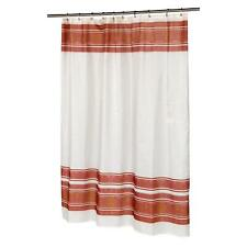 "Carnation Home ""Fleur"" Fabric Shower Curtain in Burgundy"