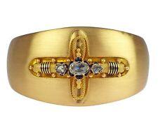 Historismus 18 K 750 Gelb Gold Diamant Rose Damen Armreif Armspange 47 gr