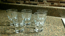 Set 5 VINTAGE Crystal CLEAR GLASS SHOT GLASSES Set Barware Drinks