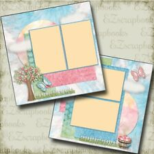 Sunshiny Day - 2 Premade Scrapbook Pages - EZ Layout 4142