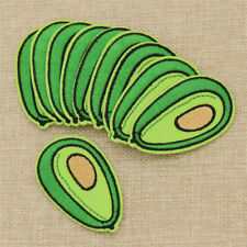 10Pcs Avocado Patches DIY Sewing Craft Plant Embroidered Applique Handmade