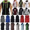 Mens Sleeveless Hoodie Coat Hooded Gym Muscle Vest Tank Tops Sweater Waistcoat