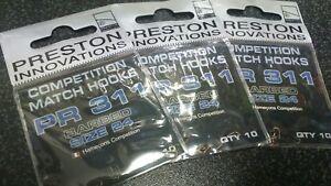 Preston PR 311 Barbed Hooks size 24 x 3 pkts