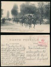 INDIA WW1 TROOPS in FRANCE HORSES PPC SQUARE CENSOR 2330 BENGAL LANCERS