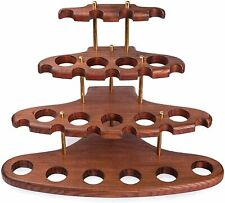 More details for dr. watson - wooden tobacco pipe stand - arch xv - for 15 tobacco smoking pipes