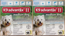 K9 Advantix Ii Flea Medicine Medium Size Dog 8 Month Supply Pack K-9 11-20 Teal
