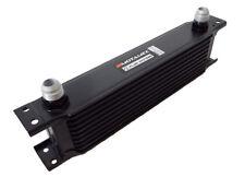 Motamec Oil Cooler 10 Row - 235mm Matrix - 10 AN JIC - Black Alloy