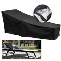 Waterproof Outdoor Chaise Lounge Chair Cover Dustproof Patio Furniture Prot HQ
