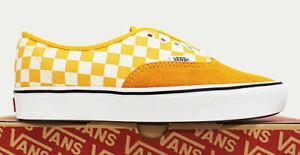 NIB VANS Men's Comfycush Authentic Checker Zinnia Suede Sz 9 Sneakers Shoes