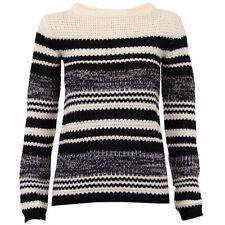 Gestreifte Winter Damen-Pullover
