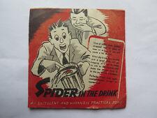 SPIDER IN THE DRINK ORIGINAL ENVELOPE ORIGINAL CONTENTS c1940s to 1950s