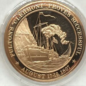 Franklin Mint American History series~1807 Fulton's Clermont Proves Successful