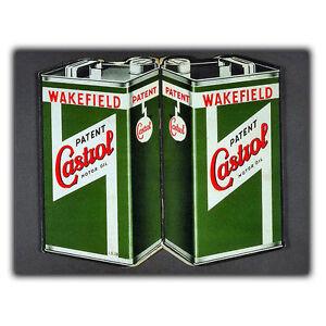 CASTROL MOTOR OIL SIGN METAL WALL PLAQUE Vintage Advert art print