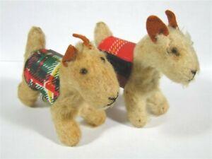 2 Vintage Vogue GINNY Doll Steiff Pup Dog Fox Terrier w/ Vest 1954-1955