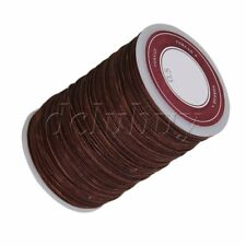 Waxed Polyester Thread Necklace Cords 0.5mm Brown Craft Round Thread Wire