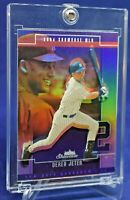 DEREK JETER FLEER SHOWCASE REFRACTOR RARE SP NEW YORK YANKEES LEGEND HOF