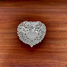 SMALL GORHAM STERLING SILVER CHANTILLY PATTERN A4300 HEART DISH - NO MONOGRAM