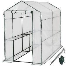 Invernadero de jardín con estante vivero casero plantas cultivos 186x120x190cm N