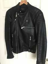 Mcq Alexander McQueen Leather Jacket Biker Excellent Used Conditions Size 46 Men