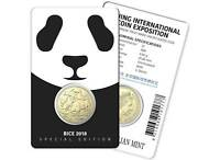 2018 $1 Panda Privy Mark Uncirculated Coin - Beijing Coin Exposition