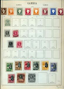 GAMBIA 1869/1927 M&U On Old Page(Apprx 19 Items)NS77