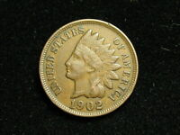 BLOW OUT SALE  XF 1902 INDIAN HEAD CENT PENNY w/ DIAMONDS & FULL LIBERTY #163i