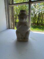 Vintage 1950's Glass Snow Crest Bottle Beverages Bear Money Bank Salem Mass USA