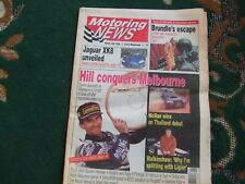 Motoring News 13 March 1996 Volvo 850R Australian GP Thailand & Portugal Rally