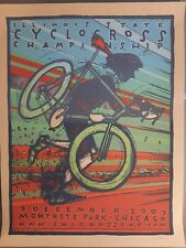 Illinois Cyclocross Championships -  2007 Event - Jay Ryan Print Poster S/N