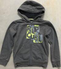 Boy's Ripcurl Sz 12 Hoodie Grey Hooded Sweatshirt