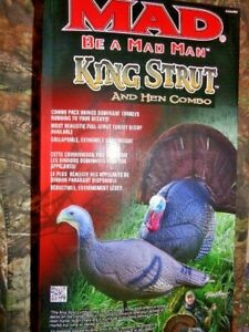KING STRUT AND HEN COMBO TURKEY DECOYS NEW OPEN BOX
