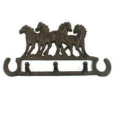 Cavallo Equitazione Ghisa design in metallo APPENDIABITI Briglia Rack Tack Yard 159-348