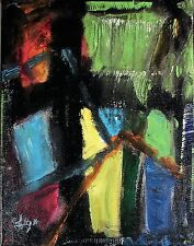 ABSTRACT PAINTING Modernist Expression CANVAS Wall ART COLORFUL CONFLICTS FOLTZ
