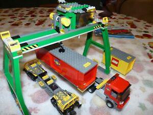 LEGO 100% TRAIN 7939 VRAC LOT GRUE+CAMION+WAGON. TRES BON ETAT #518