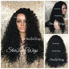 Long Curly Lace Front Wig Layers Side Part Dark Brown #2 Heat Safe Ok Brazilian