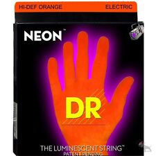 DR Strings NOE-9 Hi-Def Neon Orange Lite Electric Guitar Strings (9-42)