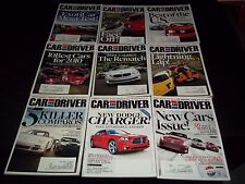 2010 CAR AND DRIVER MAGAZINE LOT OF 11 ISSUES - NICE AUTOMOBILE COVERS - M 638