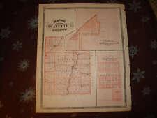 1876 FAYETTE MIAMI COUNTY PERU INDIANA ANTIQUE MAP NR