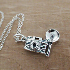 Camera Necklace - 925 Sterling Silver - Charm Photographer Photography Hobby NEW