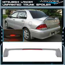 02-07 Mitsubishi Lancer EVO Style 4Dr Unpainted ABS Trunk Spoiler 3rd LED Light