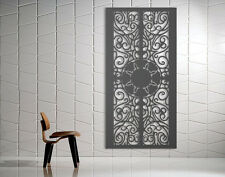 Laser Cut Metal Decorative Screen 'Ancient' Mild Steel - 1200 x 600