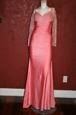 ATRIA CLOTHING MAXI PINK  DRESS MADE IN USA SIZE L