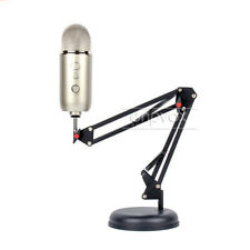 Desktop Suspension Microphone Boom Scissor Arm Stand Mount For Blue Yeti Pro Mic