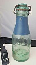 """Antique Bottle """"La Lorraine"""" Antique Glass Deco Kitchen 1960's"""