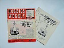 Hobbies Weekly with Lighthouse Electric Lamp Pattern February 26th 1958 n. 3252